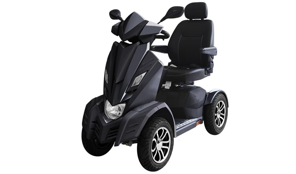Sort elscooter EasyGO L4B Maxi